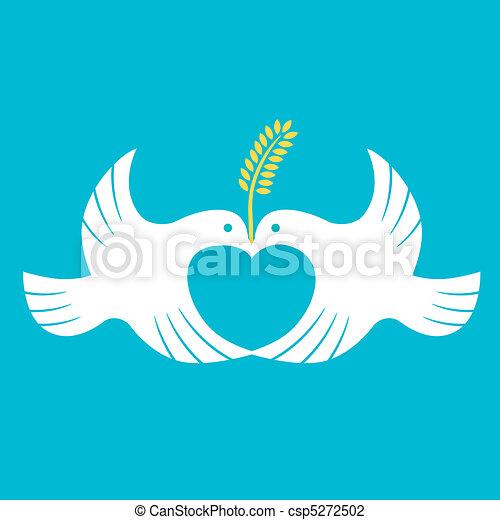 paix, colombe - csp5272502