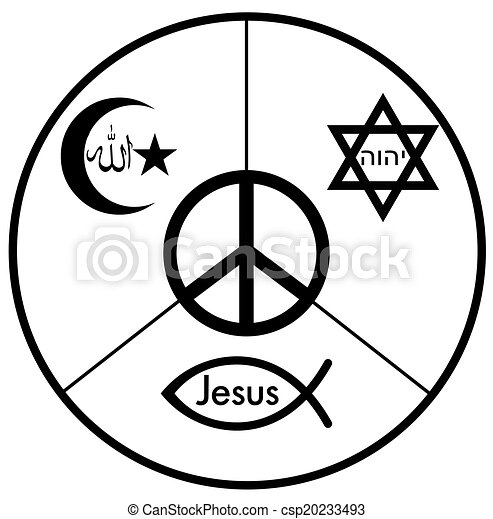 Top Illustration de paix - symbole, paix, judaïsme, christianisme  OI07