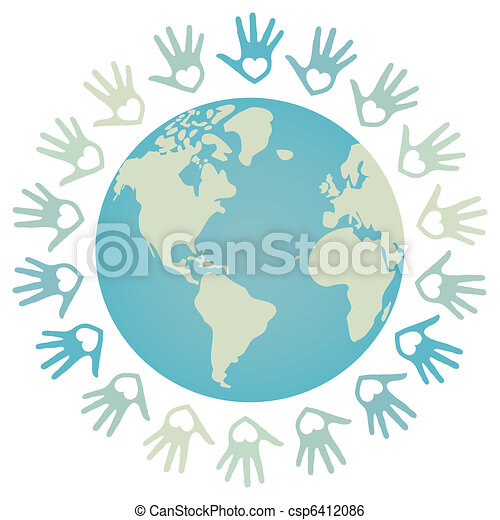 paix mondiale, coloré, design. - csp6412086