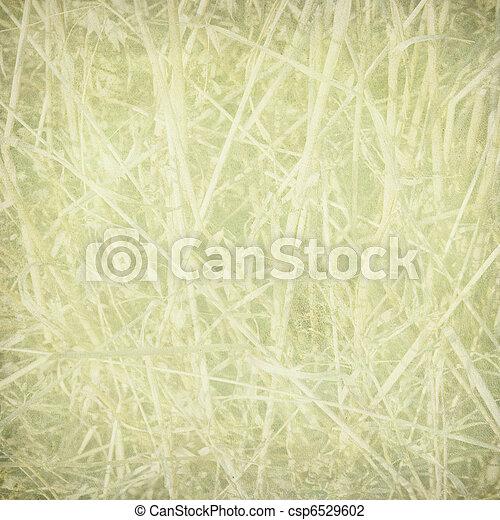 La huella de paja en papel - csp6529602
