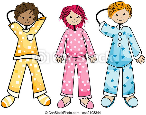 pajama kids drawing search clip art illustrations and eps vector rh canstockphoto com kid pajama clipart pajamas party clipart