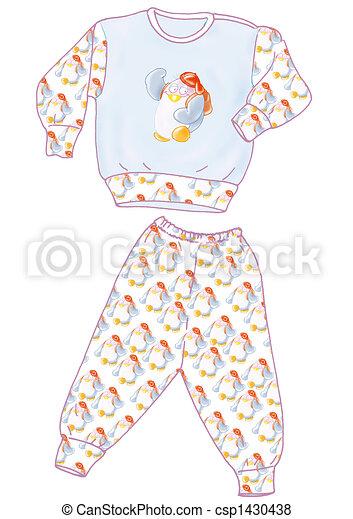 Pajamas, good night. Pajamas stock illustration