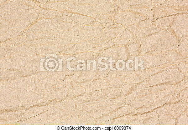 pakpapier, gekreukeld - csp16009374