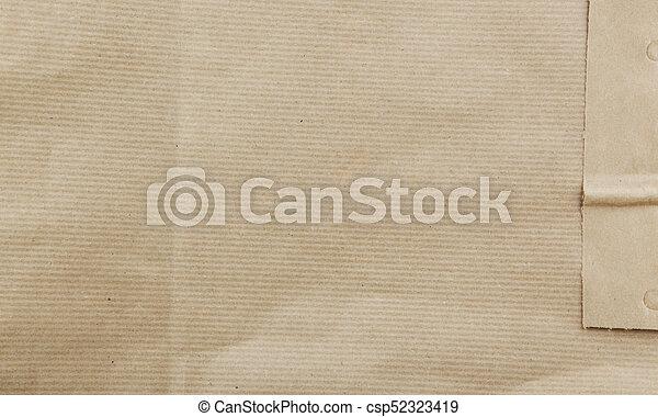 pakpapier, gekreukeld - csp52323419