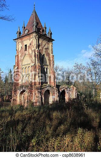 palác, troska, 2, starobylý, sad - csp8638961
