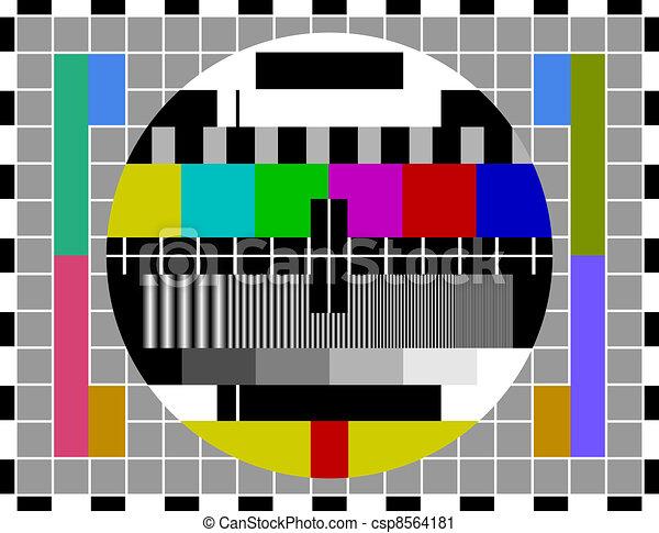PAL TV test signal - csp8564181