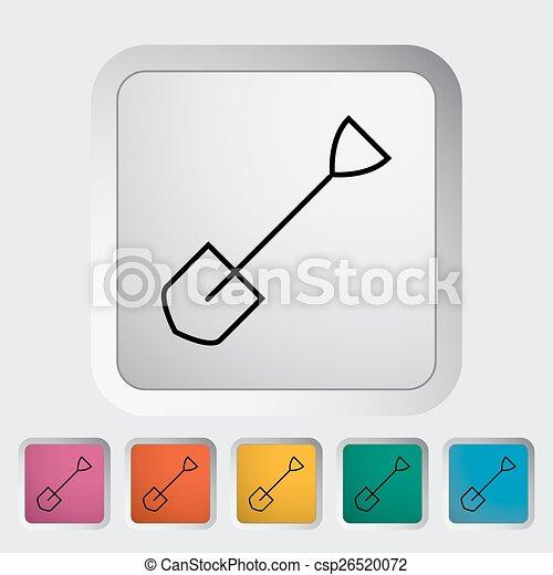 icono de pala - csp26520072