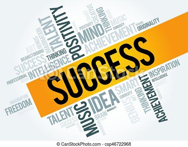 Palabra de éxito nube - csp46722968