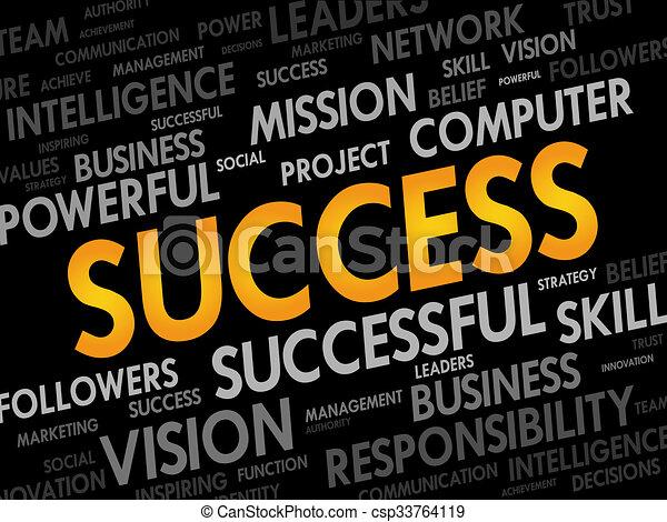Nube de palabra de éxito - csp33764119