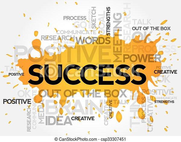 Palabra de éxito nube - csp33307451