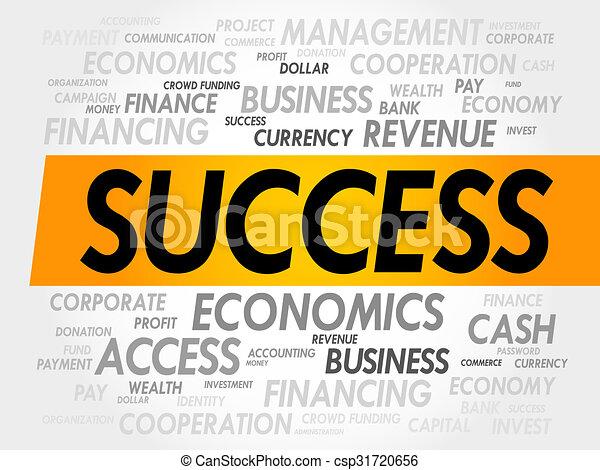 Nube de palabra de éxito - csp31720656