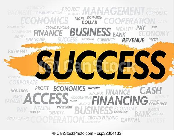 Nube de palabra de éxito - csp32304133