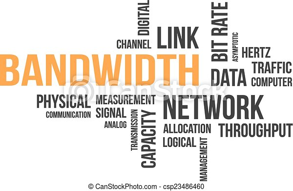 Nube de palabras, ancho de banda - csp23486460