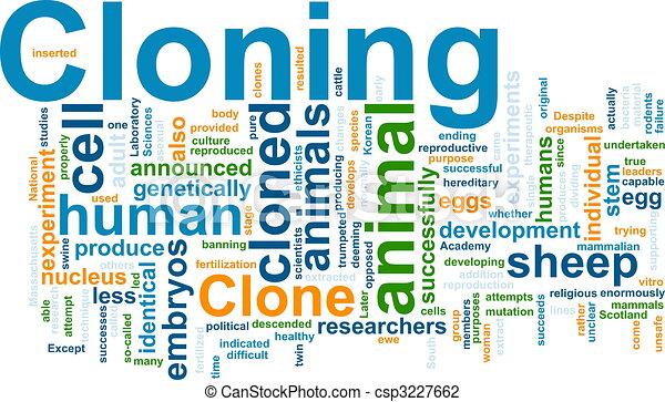 Nube de Clonación - csp3227662