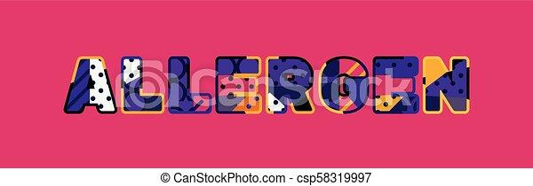 Ilustración de arte por concepto alérgeno - csp58319997