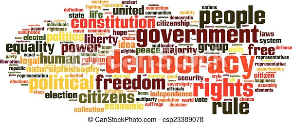 Nube de palabra de democracia - csp23389078