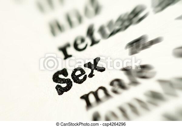 palabra, diccionario, sexo - csp4264296
