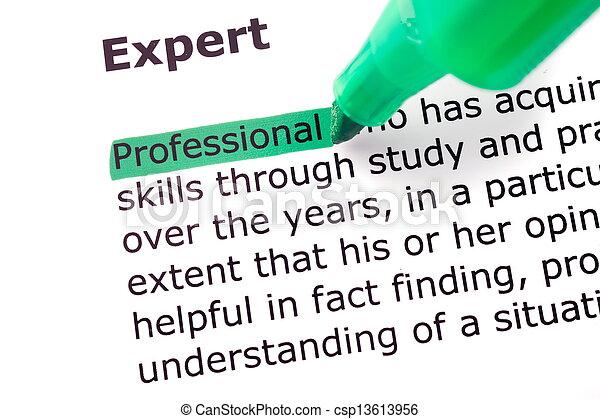 palabra, experto - csp13613956