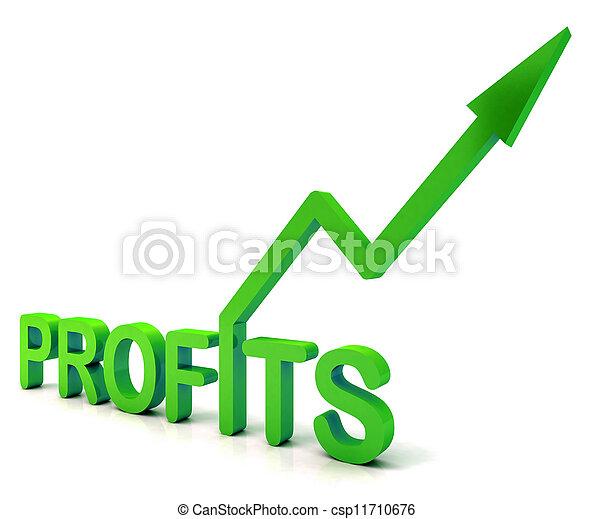 palabra, ganado, ganancia, verde, ingresos, exposiciones - csp11710676
