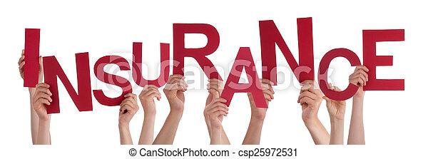 Mucha gente tiene seguro de palabra roja - csp25972531