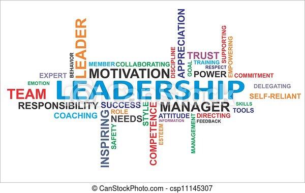 Una nube de palabras: liderazgo - csp11145307