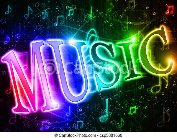 palabra, música, colorido - csp5881660