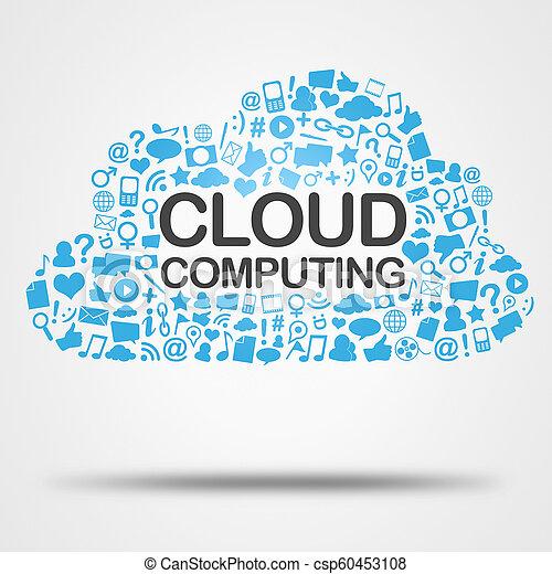 Nube informática de nubes - csp60453108