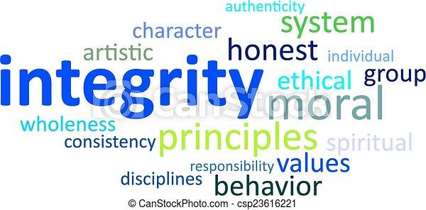 Nube de palabras, integridad - csp23616221