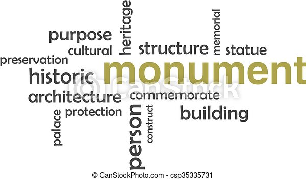 Nube de palabras, monumento - csp35335731