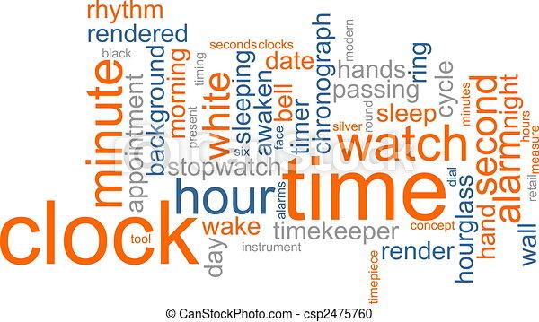 palabra, nube, reloj - csp2475760