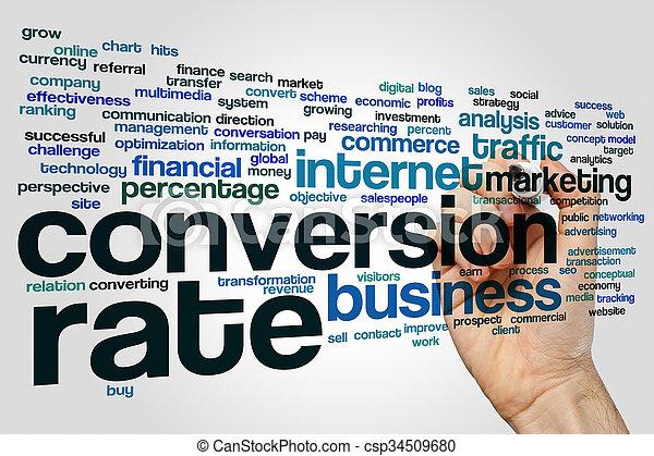 Nube de palabra de conversión - csp34509680