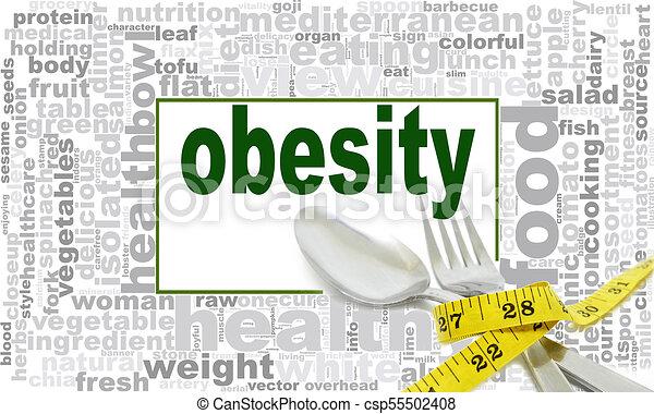 Diseño de nubes de obesidad - csp55502408