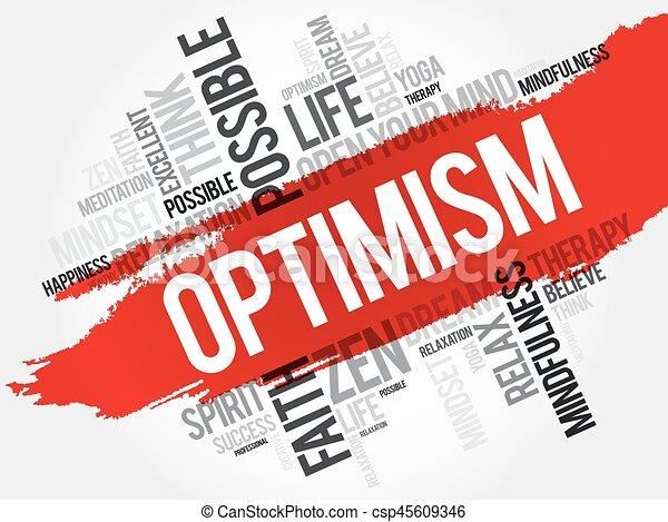 Nube de palabra optimista - csp45609346