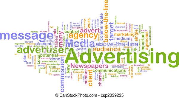 palabra, publicidad, nube - csp2039235
