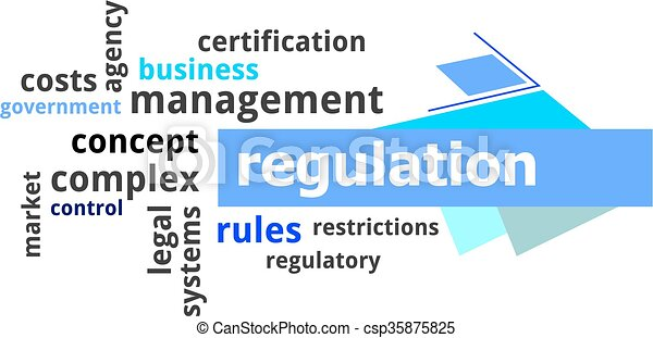 Nube de palabras, regulación - csp35875825