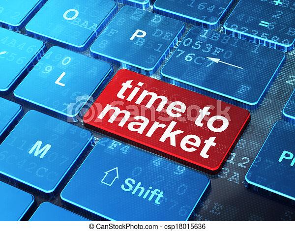 palabra, render, teclado, timeline, botón, tiempo, plano de fondo, concept:, entrar, computadora, mercado, 3d - csp18015636