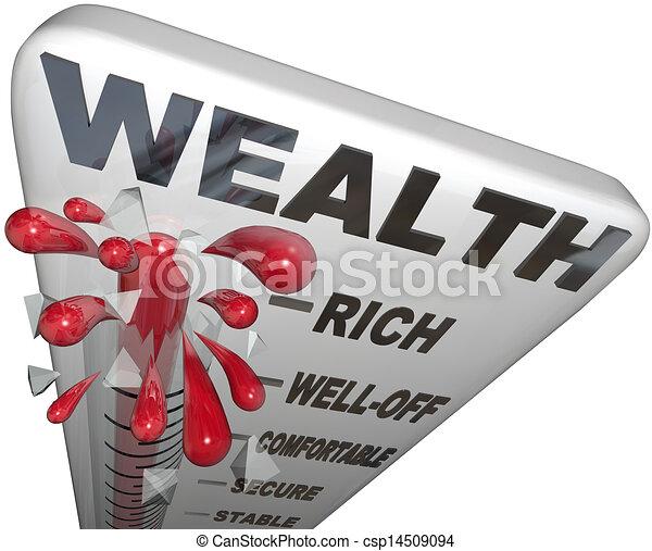 La Palabra Termometro Es Una Gran Seguridad Financiera La Palabra Wealth Sobre Un Termometro Que Mide Su Seguridad Canstock El financiero es el principal diario especializado en finanzas, economía, negocios y política de méxico con las noticias más importantes en tiempo real. can stock photo