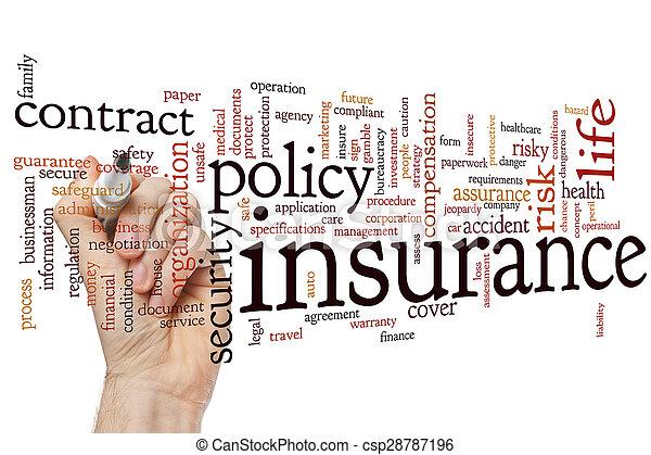 Nube de seguro - csp28787196