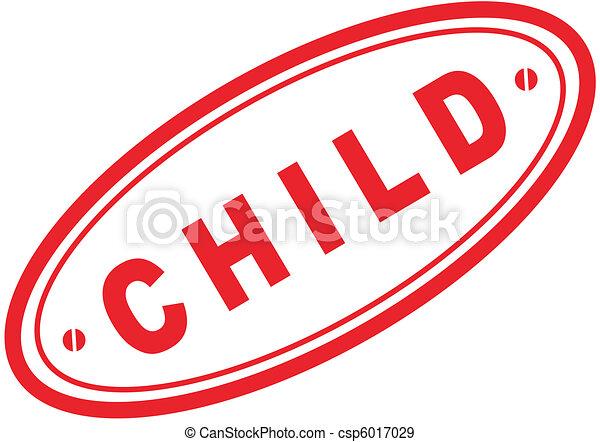 Palabra de niño sello cinco - csp6017029