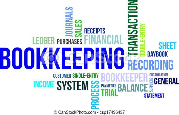 Nube de palabras, contabilidad - csp17436437