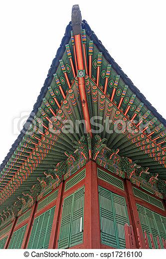 Palace in South Korea - csp17216100