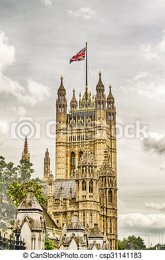 Palace of Westminster, Houses of Parliament, London - csp31141183