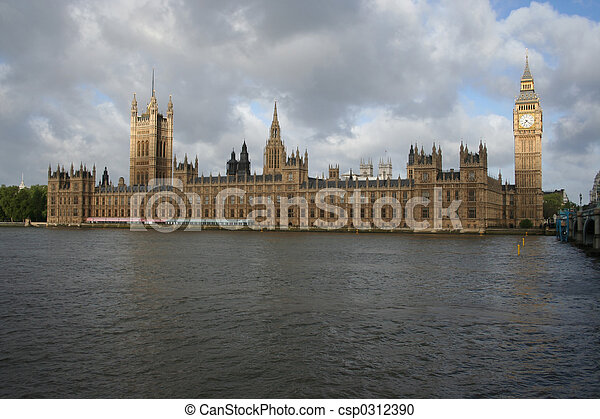 palace of Westminster, London - csp0312390