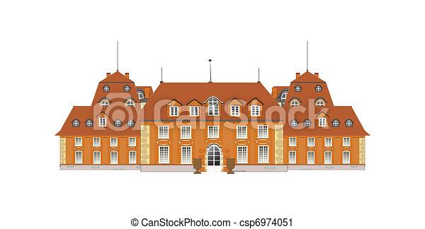 Palace, vector.