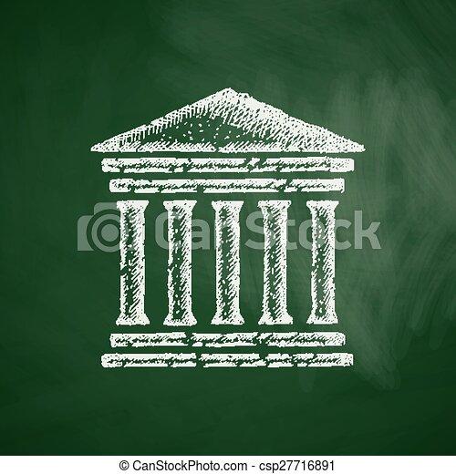 El icono del juzgado - csp27716891