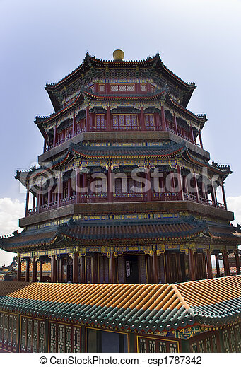 La torre de Longevity Hill de la fragancia del palacio de verano de Buddha - csp1787342