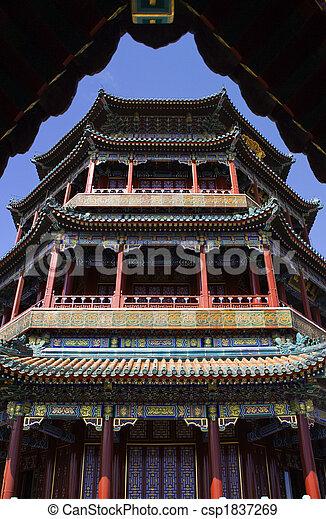 La torre de Longevity Hill de la fragancia del palacio de verano de Buddha - csp1837269