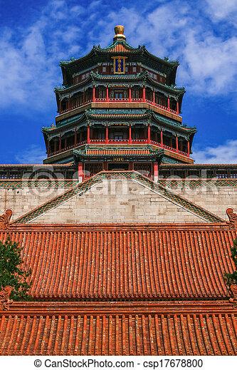 Palacio de verano, Beijing, China - csp17678800