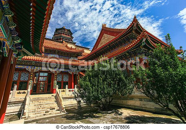 Palacio de verano, Beijing, China - csp17678806