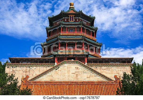 Palacio de verano, Beijing, China - csp17678797